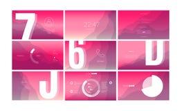Σύγχρονο σχέδιο οθόνης UI για κινητό app με τα στοιχεία Ιστού ελεύθερη απεικόνιση δικαιώματος