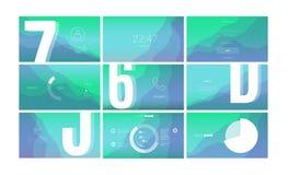 Σύγχρονο σχέδιο οθόνης UI για κινητό app με τα στοιχεία Ιστού διανυσματική απεικόνιση