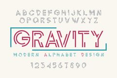 Σύγχρονο σχέδιο πηγών επίδειξης, αλφάβητο, χαρακτήρας - σύνολο, τυπογραφία Στοκ Φωτογραφίες