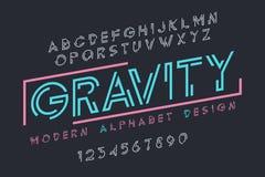 Σύγχρονο σχέδιο πηγών επίδειξης, αλφάβητο, χαρακτήρας - σύνολο, τυπογραφία Στοκ φωτογραφία με δικαίωμα ελεύθερης χρήσης