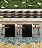 Σύγχρονο σχέδιο έννοιας του φραγμού σαλονιών κοκτέιλ παραλιών Στοκ Φωτογραφία