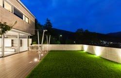 Σύγχρονο σχέδιο αρχιτεκτονικής, σπίτι, υπαίθριο Στοκ Εικόνες