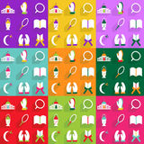 Σύγχρονο σχέδιο εικονιδίων Ιστού για το κινητό εικονίδιο καθορισμένο Ramadan σκιών Στοκ φωτογραφία με δικαίωμα ελεύθερης χρήσης
