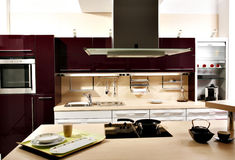 Κομψή κουζίνα Στοκ Εικόνες