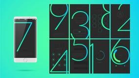 Σύγχρονο σχέδιο οθόνης UI για κινητό app με τα εικονίδια Ιστού Στοκ φωτογραφία με δικαίωμα ελεύθερης χρήσης