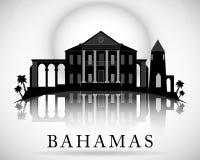 Σύγχρονο σχέδιο οριζόντων των Μπαχαμών διανυσματική απεικόνιση