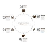 Σύγχρονο σχέδιο Infographic minimalistic διάνυσμα με τα εικονίδια Στοκ Εικόνες