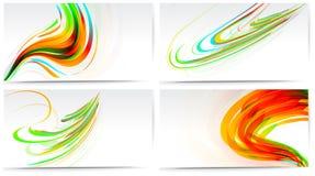 σύγχρονο σύνολο επαγγελματικών καρτών Απεικόνιση αποθεμάτων