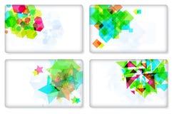 σύγχρονο σύνολο στοιχείων σχεδίου επαγγελματικών καρτών Στοκ Εικόνες