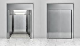 Σύγχρονο σύνολο ανελκυστήρων απεικόνιση αποθεμάτων