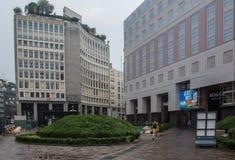 Σύγχρονο τετράγωνο πόλης κέντρων στοκ φωτογραφία με δικαίωμα ελεύθερης χρήσης