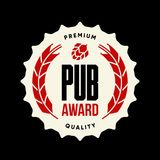 Σύγχρονο τεχνών μπύρας σημάδι λογότυπων ποτών διανυσματικό το φραγμό, το μπαρ, brewhouse ή το ζυθοποιείο που απομονώνονται για στ Στοκ Φωτογραφία
