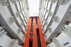 Σύγχρονο τοπίο ανελκυστήρων σε ένα ξενοδοχείο εμπόρων, Κίνα Στοκ Εικόνες
