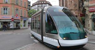 Σύγχρονο τραμ στην οδό του Στρασβούργου φιλμ μικρού μήκους
