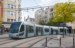 Σύγχρονο τραμ στις Βαλενσιάνες Στοκ εικόνα με δικαίωμα ελεύθερης χρήσης