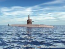 σύγχρονο υποβρύχιο ελεύθερη απεικόνιση δικαιώματος