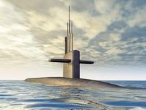 Σύγχρονο υποβρύχιο διανυσματική απεικόνιση