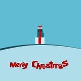 Σύγχρονο υπόβαθρο καρτών Χριστουγέννων Στοκ Εικόνα