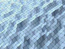 Σύγχρονο υπόβαθρο μορφών επιστήμης αφηρημένο polygonal γεωμετρικό εμείς Στοκ φωτογραφία με δικαίωμα ελεύθερης χρήσης