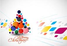 Σύγχρονο υπόβαθρο χριστουγεννιάτικων δέντρων απεικόνιση αποθεμάτων