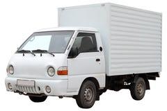 Σύγχρονο φορτηγό, που απομονώνεται στο άσπρο υπόβαθρο στοκ εικόνες