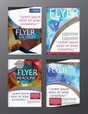 Σύγχρονο φυλλάδιο πολυγώνων διανυσματικό CMYK σύγχρονο A4 Στοκ εικόνες με δικαίωμα ελεύθερης χρήσης