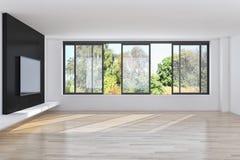 Σύγχρονο φωτεινό διαμέρισμα εσωτερικού με το πλαίσιο αφισών προτύπων τρισδιάστατο σχετικά με Στοκ φωτογραφίες με δικαίωμα ελεύθερης χρήσης