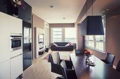 σύγχρονο δωμάτιο διαβίωσης Στοκ Εικόνα