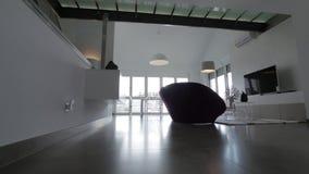 σύγχρονο δωμάτιο διαβίωσης απόθεμα βίντεο