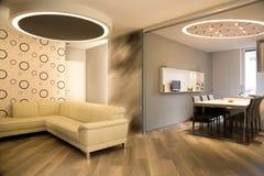 σύγχρονο δωμάτιο διαβίωσης Στοκ φωτογραφίες με δικαίωμα ελεύθερης χρήσης