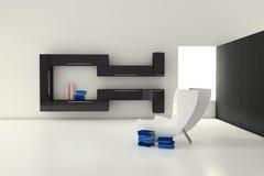 σύγχρονο δωμάτιο διαβίωσ& Στοκ Φωτογραφία