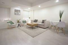 σύγχρονο δωμάτιο διαβίωσ& Στοκ Εικόνα
