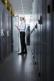 Σύγχρονο δωμάτιο κεντρικών υπολογιστών Στοκ εικόνες με δικαίωμα ελεύθερης χρήσης