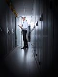Σύγχρονο δωμάτιο κεντρικών υπολογιστών Στοκ φωτογραφίες με δικαίωμα ελεύθερης χρήσης