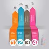 Σύγχρονο ύφος ενεργειακού origami infographics βελών. απεικόνιση αποθεμάτων