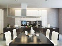 Σύγχρονο ύφος κουζινών Στοκ Εικόνες