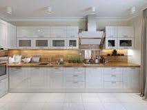 Σύγχρονο ύφος κουζινών Στοκ Φωτογραφίες