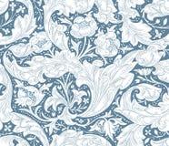 Σύγχρονο floral άνευ ραφής σχέδιο για το σχέδιό σας διάνυσμα Υπόβαθρο Στοκ Εικόνες