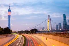 Σύγχρονο guangzhou στο σούρουπο στοκ εικόνες με δικαίωμα ελεύθερης χρήσης