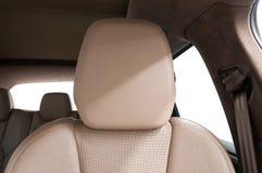 Σύγχρονο headrest δέρματος αυτοκινήτων Στοκ Φωτογραφίες