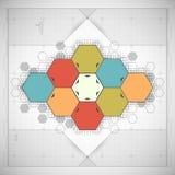 Σύγχρονο hexagon υπόβαθρο Στοκ Φωτογραφία