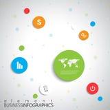 Σύγχρονο infographic πρότυπο δικτύων με τη θέση για διανυσματική απεικόνιση