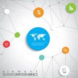 Σύγχρονο infographic πρότυπο δικτύων με τη θέση για ελεύθερη απεικόνιση δικαιώματος
