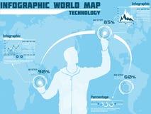 Σύγχρονο infographic blak επιχειρησιακών ατόμων για τον Ιστό Στοκ Φωτογραφία