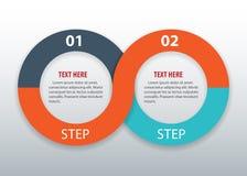 Σύγχρονο infographics επιλογών επιχειρησιακών κύκλων επίσης corel σύρετε το διάνυσμα απεικόνισης Στοκ Φωτογραφίες