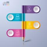 Σύγχρονο infographics Στοκ φωτογραφία με δικαίωμα ελεύθερης χρήσης