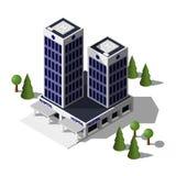 Σύγχρονο isometric κτήριο νοσοκομείων διανυσματική απεικόνιση