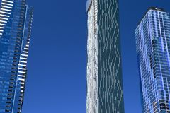 Σύγχρονο Skysrapers, Μελβούρνη, Αυστραλία Στοκ εικόνα με δικαίωμα ελεύθερης χρήσης