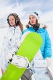 σύγχρονο snowborder κοριτσιών δια στοκ φωτογραφίες με δικαίωμα ελεύθερης χρήσης