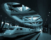 σύγχρονο trainstation Στοκ Φωτογραφίες